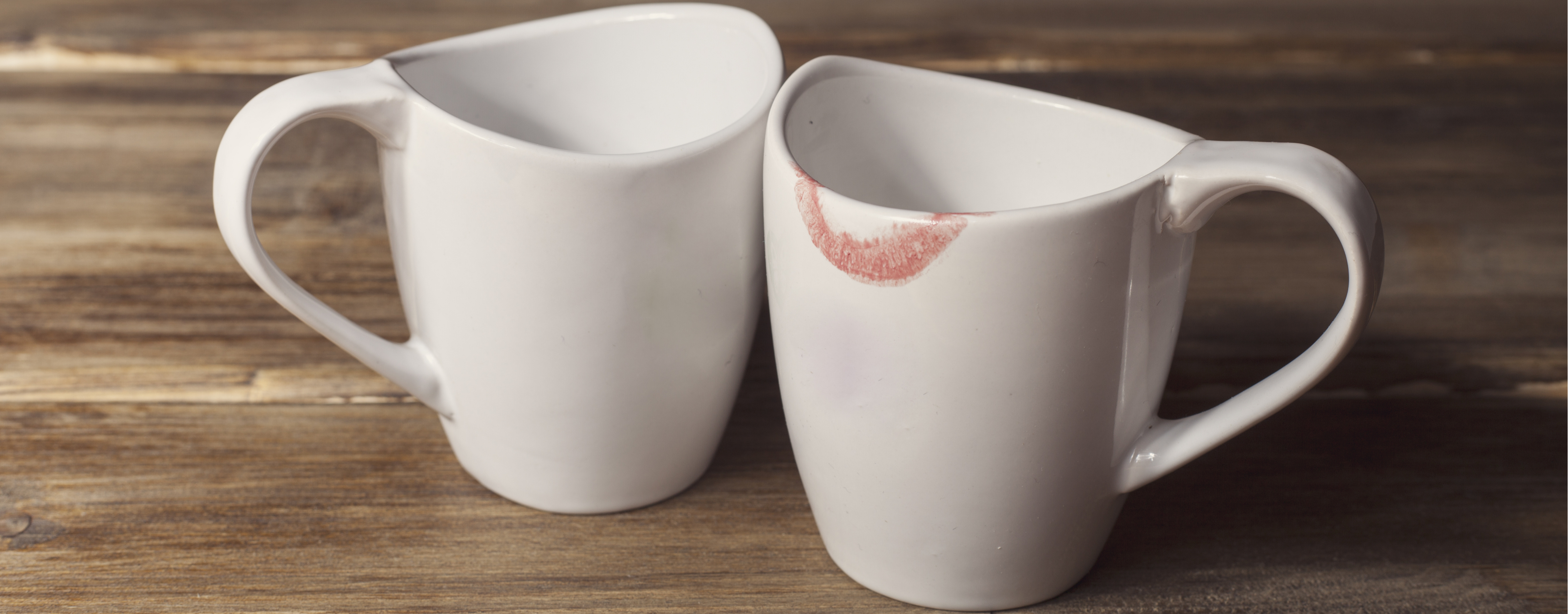 Lipstick on a cup